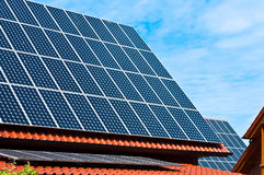 Solar roof Royalty Free Stock Photos