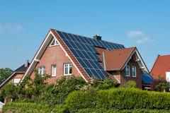 Solar roof on a single house Royalty Free Stock Photos