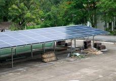 Solar rooftop carpark stock photo