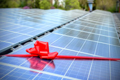 Solar. A rooftop full of solar panels Stock Image