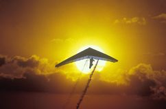 Solar Sailing Hang Gliding Stock Photo