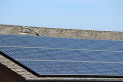 Solar sell. S on roof of the building Royalty Free Stock Image