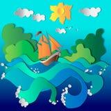 Solar ship stock illustration