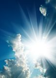 Solar sky Royalty Free Stock Images