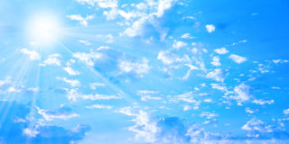 Solar sky Stock Images
