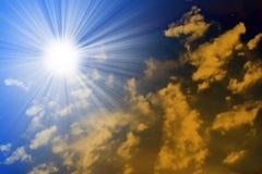 Solar sky Stock Photo