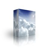 Solar sky box template Royalty Free Stock Photography