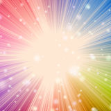 Solar star burst with bokeh effect Royalty Free Stock Photos