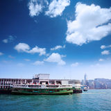 Solar star  stop at Kowloon pier Stock Photography