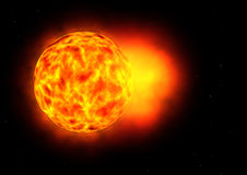 Solar storm. Illustration of a strong solar storm Royalty Free Stock Image