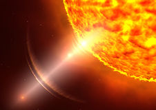 Solar storm. Illustration of a very big solar storm Royalty Free Stock Image