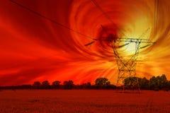 Solar storm Stock Photo