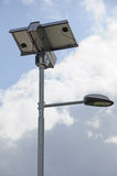 Solar street lamp Royalty Free Stock Photo