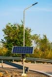 Solar street lamp Stock Image
