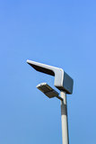 Solar Street Light. With blue sky Royalty Free Stock Photography