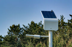 Solar Street Light. With blue sky Royalty Free Stock Image