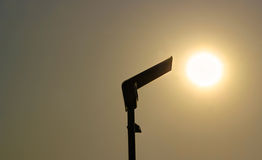 Solar street light. Under the sun Stock Image
