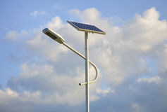 Solar Streetlight And Cloud Royalty Free Stock Photo