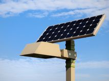 Solar Streetlight and cloud Royalty Free Stock Photos