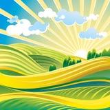 Solar summer landscape Stock Photo
