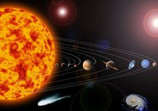 Solar system. An illustration of our solar system. Maps from Stock Photos