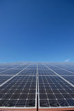 Solar system. View of a polycristalline silicium solar pannel Stock Photography