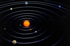 Solar system. 3d render of Solar system Royalty Free Stock Photography