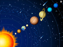 Solar system. Vector illustration - Solar system background