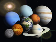 The solar system Stock Image