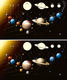 Solar system stock illustration