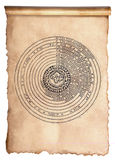 Solar system. The solar system on an old manuscript stock photography