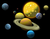 Solar system Stock Image