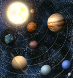 Solar System. An illustration of our solar system. Maps from http://planetpixelemporium.com