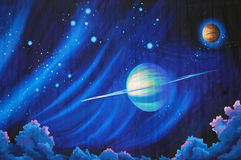 Solar system background Royalty Free Stock Images