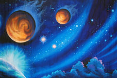 Solar system background Stock Image