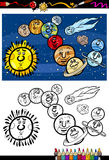Solar system cartoon coloring book Stock Photography