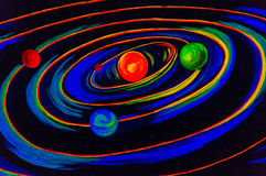 Solar system. Colorful solar system illustration showing planets Stock Photography