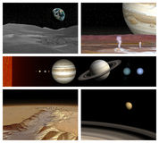 Solar system. Different landscape in solar system Royalty Free Stock Photo