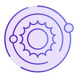 Solar system flat icon. Cosmos violet icons in trendy flat style. Galaxy gradient style design, designed for web and app. Eps 10 vector illustration