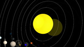 The solar system. stock footage