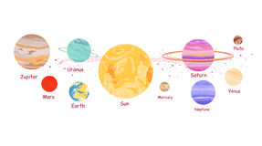 Solar System Icon Flat Design Style Royalty Free Stock Images