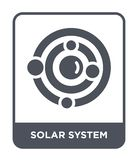 solar system icon in trendy design style. solar system icon isolated on white background. solar system vector icon simple and stock illustration