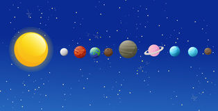 Solar system icons Royalty Free Stock Photos