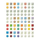 Solar System Icons Pack Stock Photo