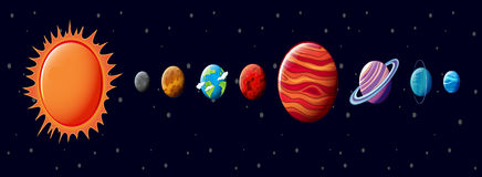 The Solar System Royalty Free Stock Photography