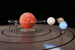 Solar System. An illustration of our solar system stock photography