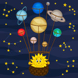 Solar system like balloon Stock Image