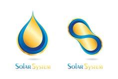 Solar system logo design Stock Image