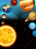 The solar system - milky way - astronomy for kids Royalty Free Stock Images