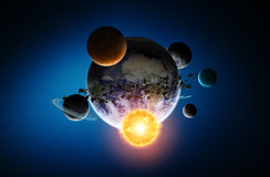 Solar system on office background Royalty Free Stock Photography